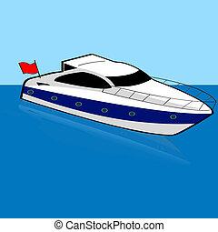 halad hajózik