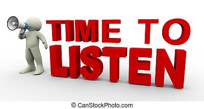 hallgat, idő, -, ember, 3