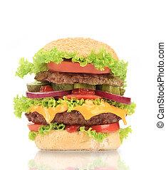 hamburger., finom