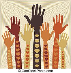 hands., vagy, törődik, önkéntesség