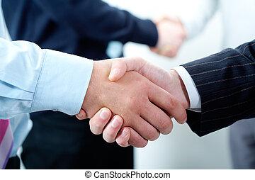 handshakes, evez