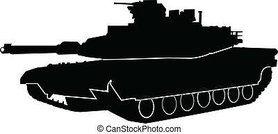 harckocsi, vektor, -, áttekintés