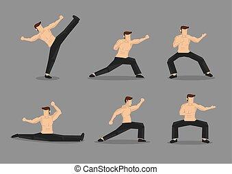harcművészetek, vektor, betű, ábra