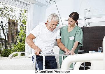használ, gondozás, ápoló, otthon, türelmes, ételadag, nemezelőmunkás, fiatal