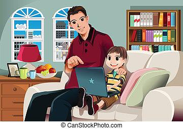 használt computer, atya, fiú