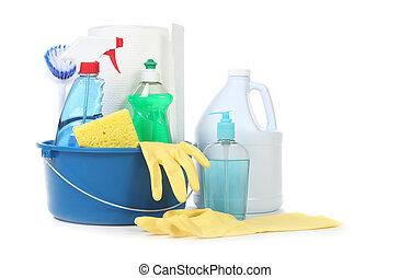 hasznos, sok, háztartás, napi, termékek, takarítás
