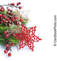 határ, elszigetelt, white., karácsony, másol, tervezés, dekoráció