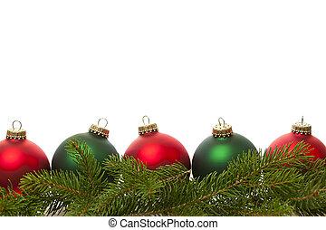 határ, herék, zöld, karácsony, piros
