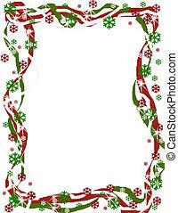 határ, karácsony, szalag