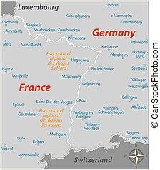 határ, németország, franciaország
