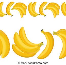 határ, seamless, banán