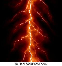 hatás, elektromos, elvont, háttér, techno, világítás, tervezés, -e, piros