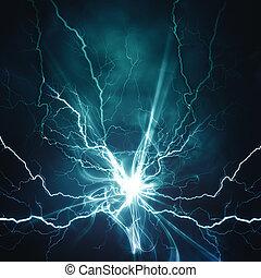 hatás, háttér, elvont, -e, techno, világítás, tervezés, elektromos