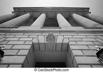 hatásos, épület, washington dc dc, kormány