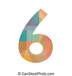 hat, szám, színes