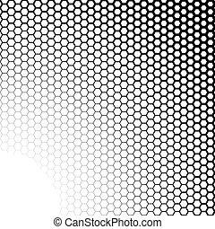 hatszögek, fekete, white háttér, gradiens