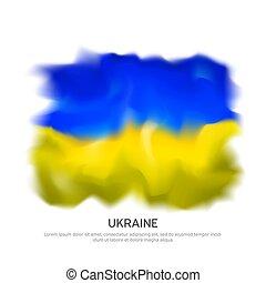hazafias, grafikus, ünnep, háttér., sablon, vektor, lobogó, fehér, kreatív, nemzeti, ukrajna, transzparens, ukrán, elvont, poszter, nemzet, design.