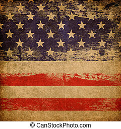 hazafias, háttér., amerikai, grunge, téma