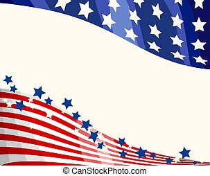 hazafias, háttér, lobogó, amerikai