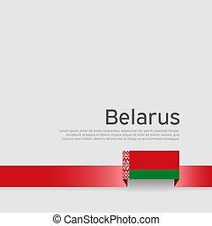 hazafias, háttér., lobogó, szalag, fehér, vektor, poster., befest, fehéroroszország, nemzeti, lakás, állam, design., transzparens, belarusian, fedő