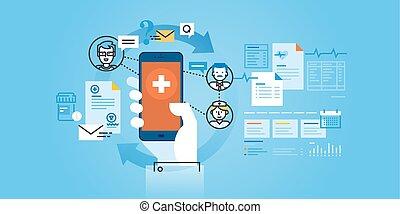 healthcare, mozgatható, app