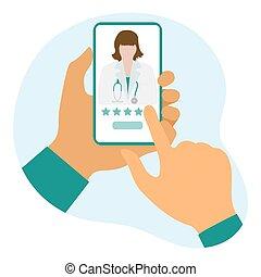 healthcare, orvosi, online, értékelés, szolgáltatás, orvos