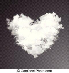 heart., gyakorlatias, háttér., vektor, áttetsző, felhő