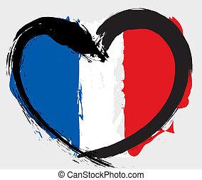 heartshape, lobogó, franciaország