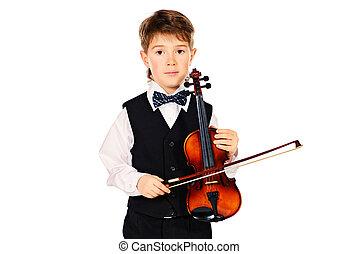 hegedűművész, fiatal
