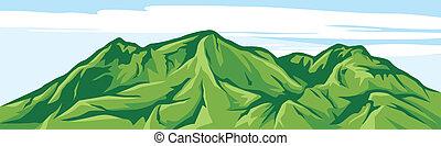 hegy, ábra, táj
