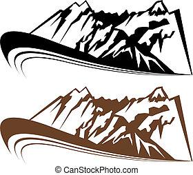 hegy, állhatatos, felteker