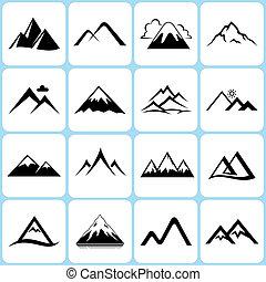 hegy, állhatatos, ikonok