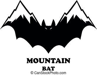 hegy, üt, fekete, ikon