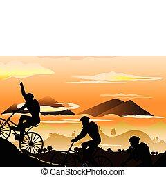 hegy bicikli