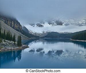 hegy, bizonytalanok, tó, kanadai