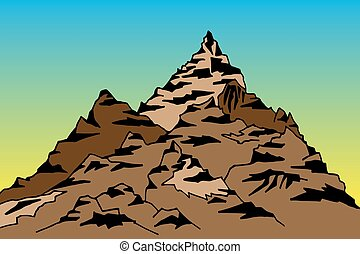 hegy csúcs, ábra