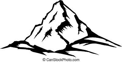 hegy csúcs, táj, sorozat