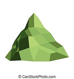 hegy, egyedülálló, ikon