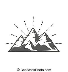 hegy, elszigetelt, white háttér