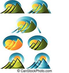 hegy, elvont, ikonok
