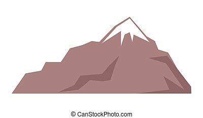 hegy, fehér, sziklás, ábra, elszigetelt