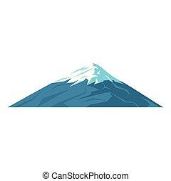 hegy, fuji, ikon