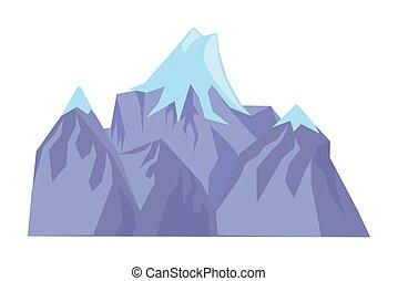 hegy, háttér, elszigetelt, fehér, csúcs, jégbe hűtött