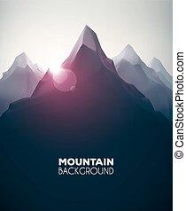 hegy, háttér