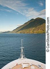 hegy, hajó cruise, íj