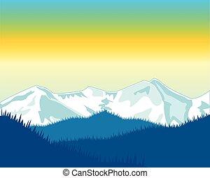 hegy, hajnalodás