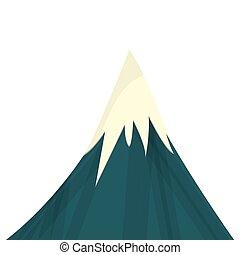 hegy, havas, ikon