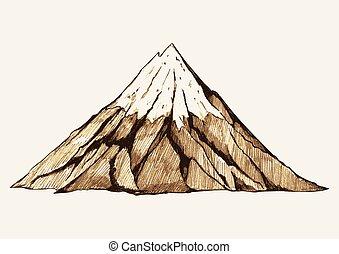 hegy, havas