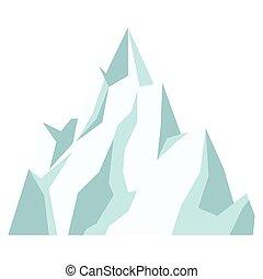 hegy, jég, ikon
