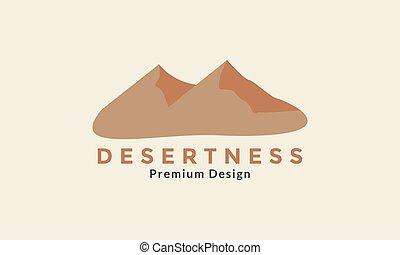 hegy, jel, modern, grafikus, ikon, vektor, dezertál, tervezés, jelkép, ábra